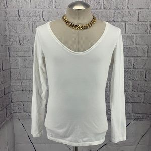 LP Target Off White Long Sleeve (XXL) Top AE0604